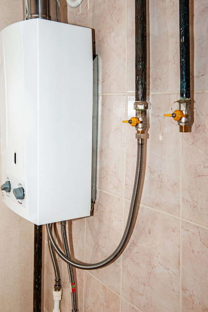 hot water connection inside a home